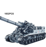 Hot modern military T92 tank moc building block model bricks toys collection for adult children gifts