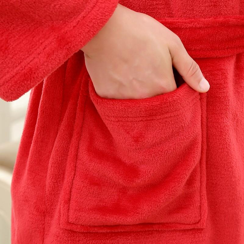 Unisex Mens Women\'s Long Polyester Sleep Lounge Robes RBS-C LYQ114 25