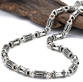 5mm Link 925 Sterling Silver men's Classic Retro Chain Silver Necklace