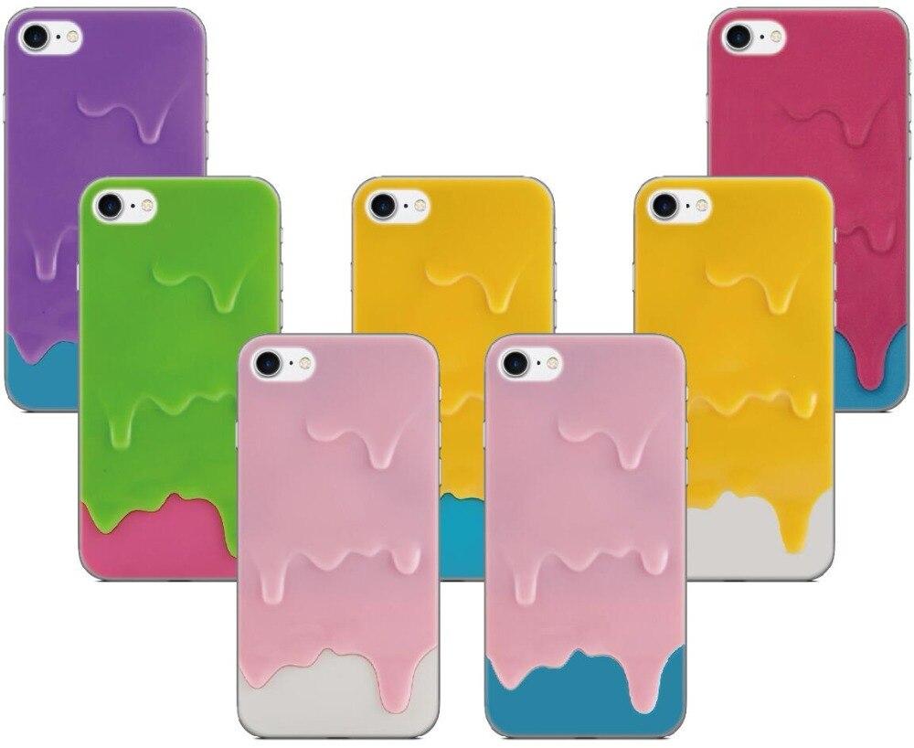 Melt Ice Cream Hard Case For Samsung Galaxy S9 Plus E5 E7 i9082 S5 S6 S7 Edge Note 3 4 5 Phone Cover Coque Capa Fundas Bumper