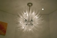 chihuly style white modern chandelier for wedding decoration