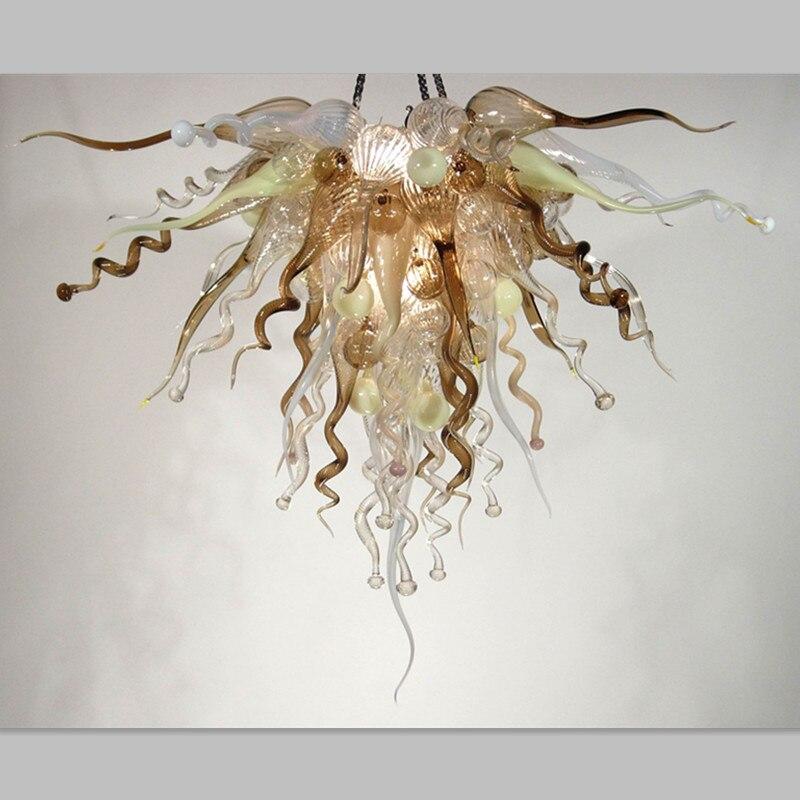 Light Browm Pendent Lights Modern Hanging Lamps Glass Chandeliers LED Bulbs Lightings festivel lightings modern chandeliers lighting high quality handmade chandelier led bulbs lightings