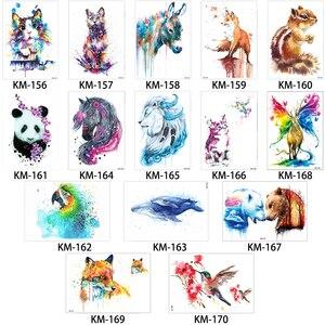 Image 3 - 100 штук, оптовая продажа, тату наклейки на тело с цветами, на руку, Классические рыбы, дракон, тотем, дизайнерские временные тату наклейки для женщин
