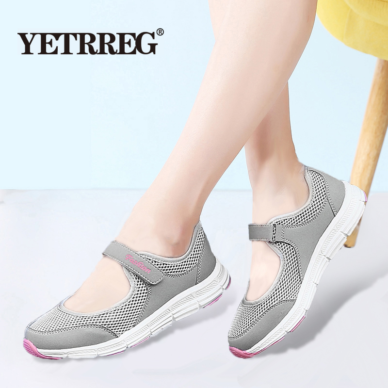 Brand New Women Spring Sneakers Breathable Mesh Casual Shoes Women's Fashion Non-slip Flat shoes Ladies Moccasin Boat Shoes