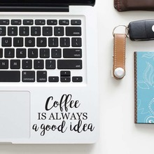 Coffee Quote Laptop Trackpad Decal for font b Apple b font font b Macbook b font