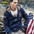 TAWILL 2016 Новая военная ввс одна армия Осень-Зима Руно мужская Толстовки Отпечатано Пуловер Толстовка Мужчины Модной Одежды 17