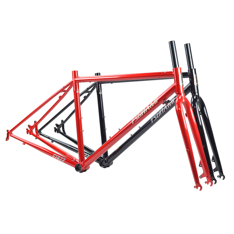 TSUNAMI MBT/ROAD Straight/Bend Road 28-inch <font><b>Bicycle</b></font> 700C 4130/520 Tourist <font><b>Bicycle</b></font> <font><b>Frame</b></font> Mechanical Disc Brake 43/47/50 image