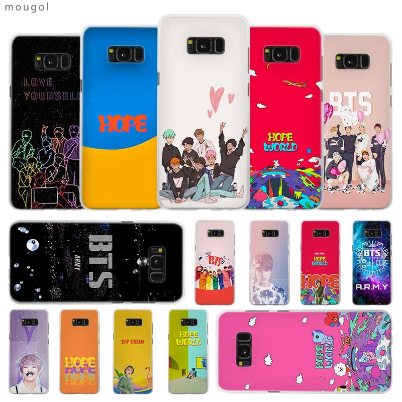 Half-wrapped Case Selfless Army Bangtan Boys Bts Hope Transparent Patterned Hard Case Cover For Samsung Galaxy S4 S5 S6 S7 S8 S9 Plus Edge Mini S10 Lite To Win Warm Praise From Customers