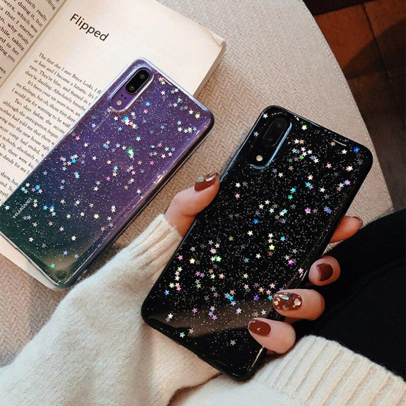 Bling Star Glitter Phone Case For Huawei P10 P20 Plus P30 Mate 20 Pro Nova 2S 3 3I Sequin Cover For Huawei Honor 9 V20 10 Lite