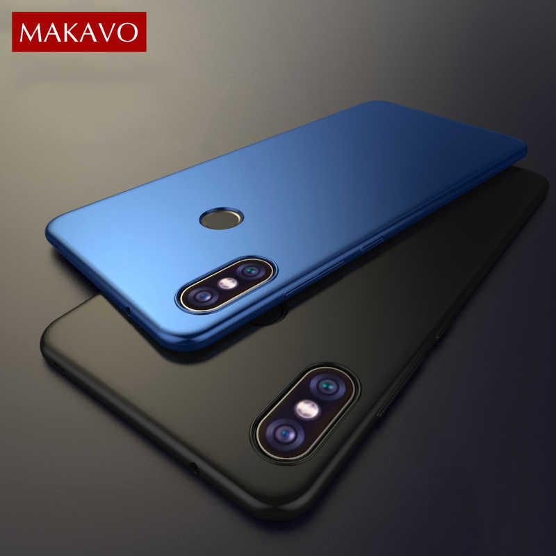 new style 7dfbc 75975 MAKAVO for Xiaomi Redmi 6 Pro Case Global Version Slim Matte PC Hard Back  Cover Xiomi Redmi6 Pro Xiaomi Mi A2 Lite Phone Cases