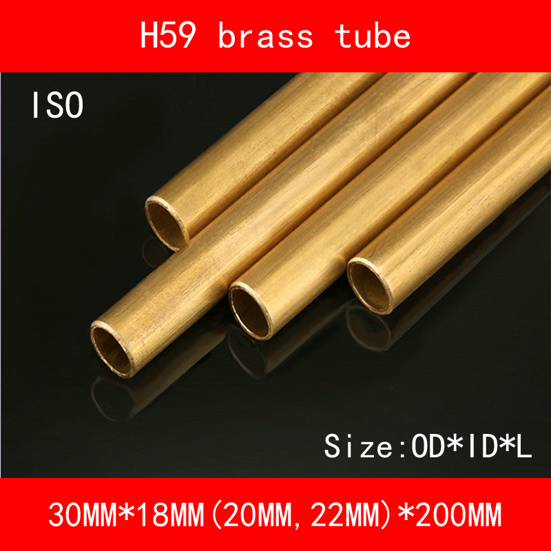 ISO Certified 30*22(20 18)*200mm OD*ID*Length H59 Brass Seamless Pipe Tube of ASTM C28000 CuZn40 CZ109 C2800 Hollow Bar 24 12 200mm od id length brass seamless pipe tube of astm c28000 cuzn40 cz109 c2800 h59 hollow bar iso certified free shipping