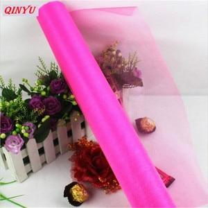 Image 4 - Tulle Roll 72 Cm * 10M Crystal Tulle Organza Tule Jurk Roll Spool Tutu Zachte Bruiloft Verjaardag Party 8zSH015