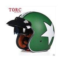 New arrive TORC helmet   vintage 3/4 open face scooter helmet  casco capacete racing motorcycle helmet  DOT ECE Jet Helmet