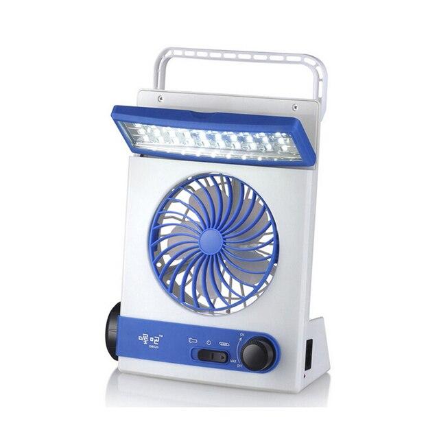 Ультра-практическая Мини Солнечной Перезаряжаемые Вентилятор многофункциональный СВЕТОДИОДНЫЙ Свет Настольной Лампы Фонарик