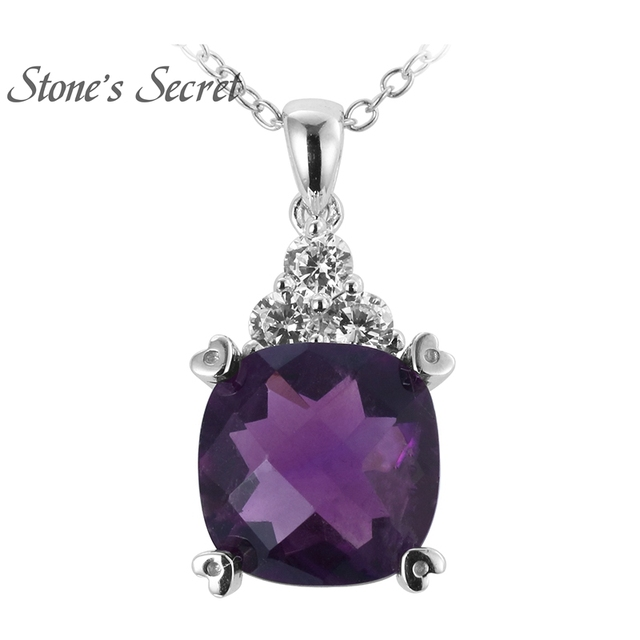 Aliexpress buy 925 sterling silver natural amethyst pendant 925 sterling silver natural amethyst pendant aloadofball Images