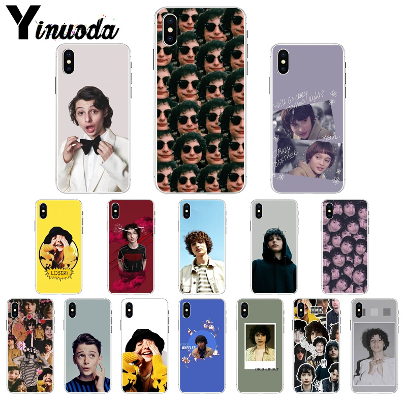 Yinuoda TV Finn Wolfhard Stranger Soft Silicone TPU Phone Cover for Apple iPhone 8 7 6 6S Plus X XS MAX 5 5S SE XR Mobile
