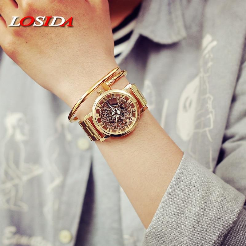 Katso naiset Losida-brändi ylellisyyttä muoti rento kvartsi - Miesten kellot - Valokuva 3