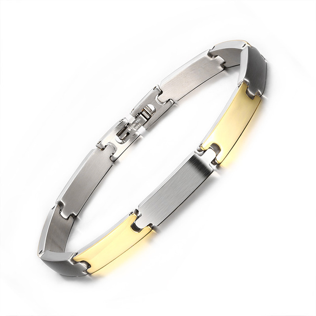 The new 316L Stainless Steel popular personality simple titanium steel Bracelet in for men jewelry Bracelet in 20.8
