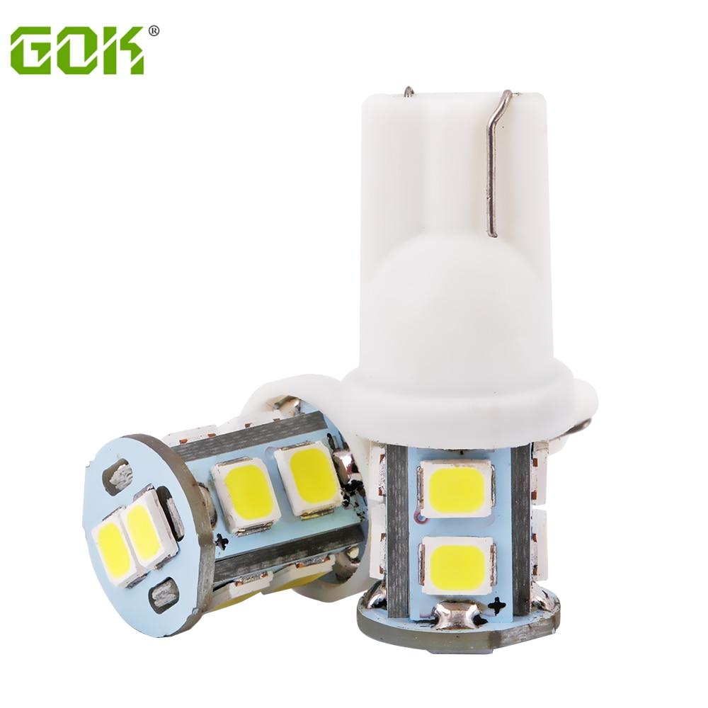 10pcs T10 10smd 194 168 192 w5w led 2835 smd t10 10led Auto Led Car Lighting LED Clearance Bulbs Wedge Reverse Lamp