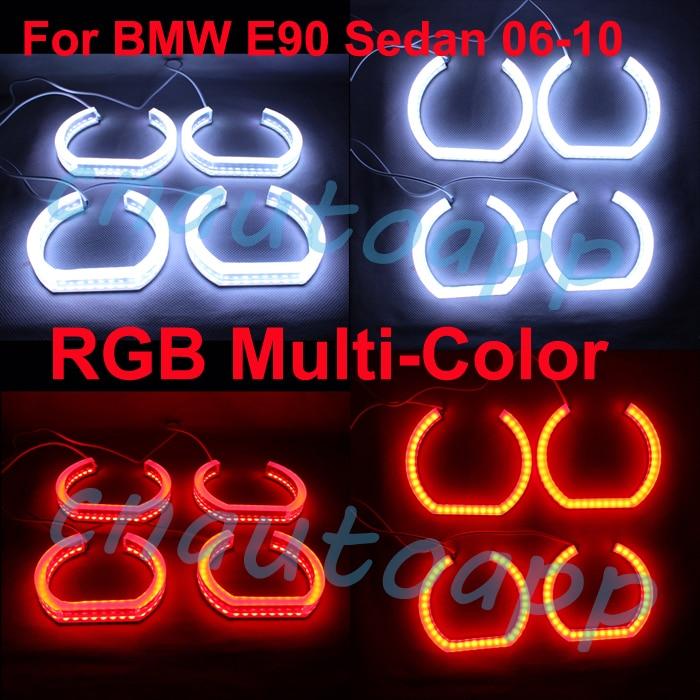 Angel Eye RGB Multi-Color Crystal Light Headlights Running Light Turn Light DRL No Error Remote Kit - One Set italians gentlemen пиджак