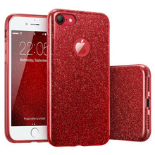 3 IN 1 Glitter Bling Cover for Xiaomi Redmi Note 4 4X 5 Pro PC+TPU Coque For 4A 3S S2 5A Plus Cases 6