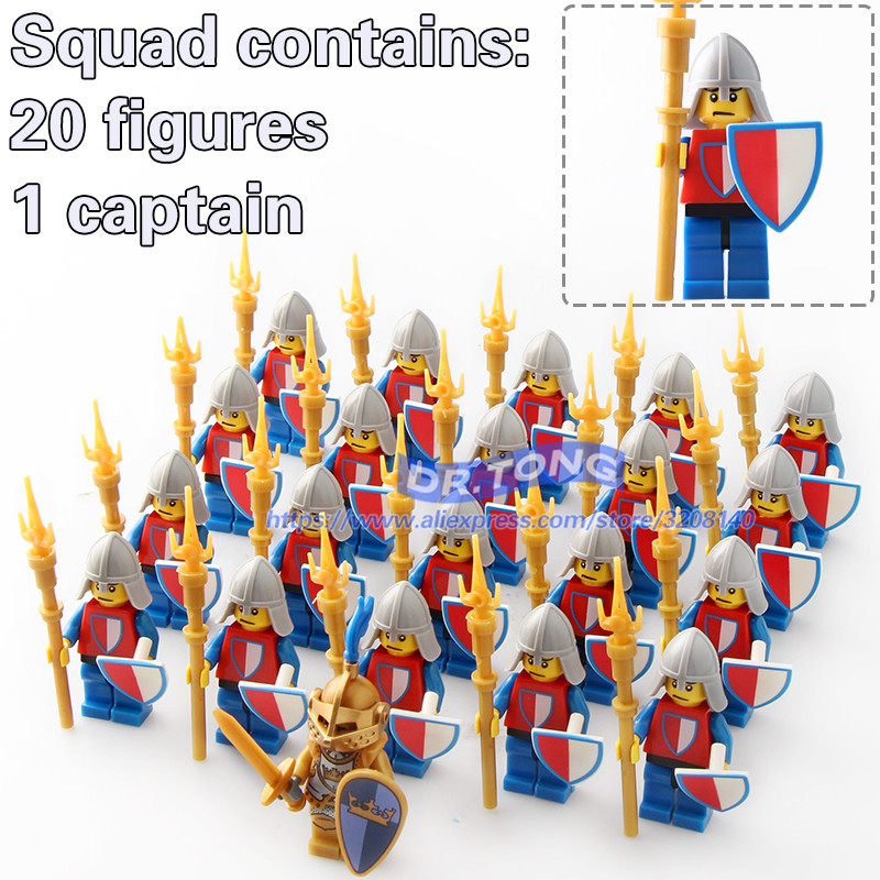 DR.TONG 21PCS Medieval Castle Heavy Armor Knight with Weapons Knight King Figures Mini Building Blocks Bricks Children Toys 9819 beibehang 3d wallpaper papel de parede european style wall paper with thick non woven wallpaper for the living room tv tapety
