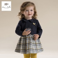 DB2789 Dave Bella 2015 Autumn Lolita Girl Dress Baby England Style Dress Toddler Dress Baby Clothes