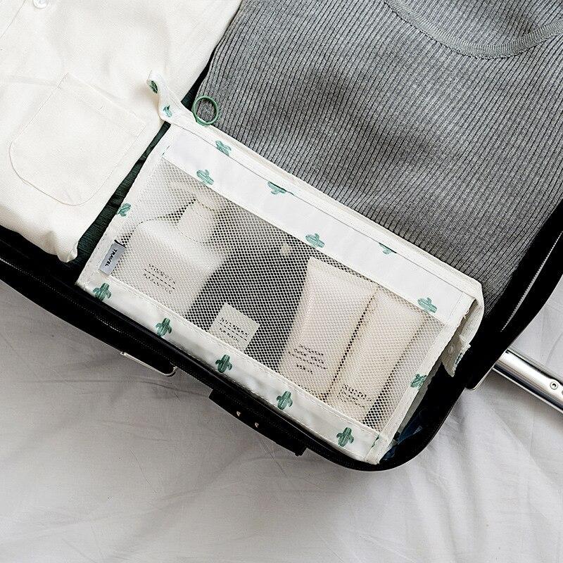 Купить с кэшбэком New Fashion Mesh Transparent Cosmetic Bags Travel Women Nylon Zipper Makeup Pouch Portable Organizer Storage Bag