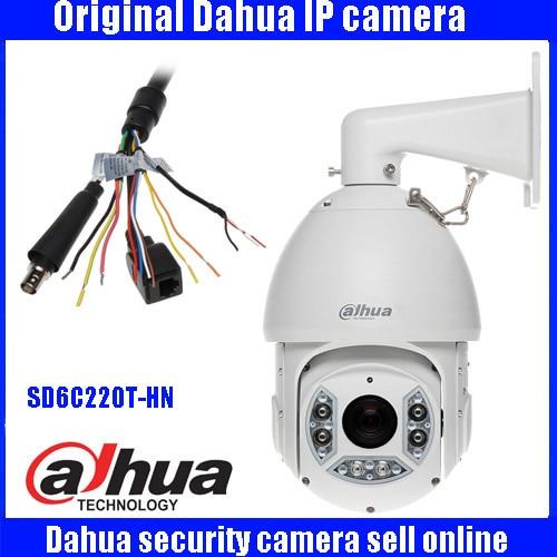 Original Dahua English version SD6C220T-HN 2MP IP66 Weatherproof IR PTZ cctv Camera network speed dome ip camera with bracket hikvision original english version ds 2ce16d1t irp hd1080p ir bullet camera 2mp ip66 weatherproof up the coax cctv camera