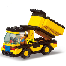 2019 Rushed 93pcs Engineering Dump Truck Model Building Block Toys Figure Brinquedos Gift For Children Boy Compatible For Legoe 638pcs carrier vehicle transport truck model building block toys sluban 0339 figure gift for children compatible legoe
