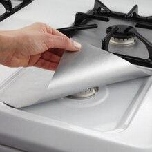 2/4 шт. Стекло волокна газовый протекторы для плиты многоразовая плита крышка антипригарным коврик посудомоечная машина огонь такими травмами защиты Кухня инструмент 7