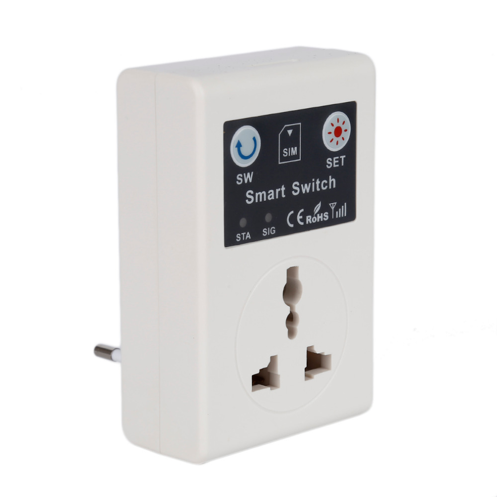 10A 220 V téléphone RC télécommande sans fil commutateur intelligent GSM prise avec Port USB prise murale carré UK/EU GSM prise d'alimentation