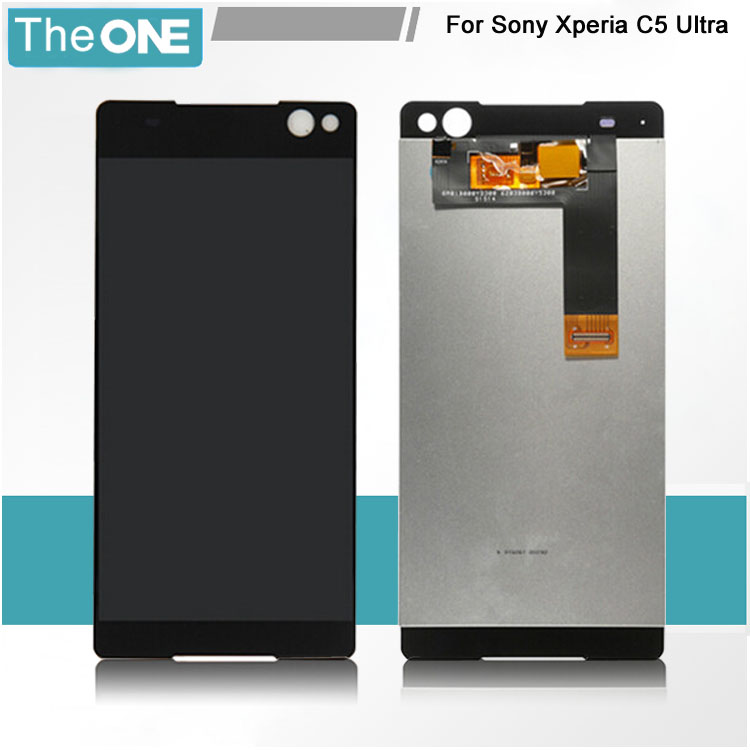 Wholesales LCD Display Touch Screen Digitizer Assembly For Sony Xperia C5 Ultra E5506 E5533 E5563 E5553 for Sony Parts original tested lcd screen for sony xperia c5 ultra lcd display with touch screen digitizer assembly free ship track