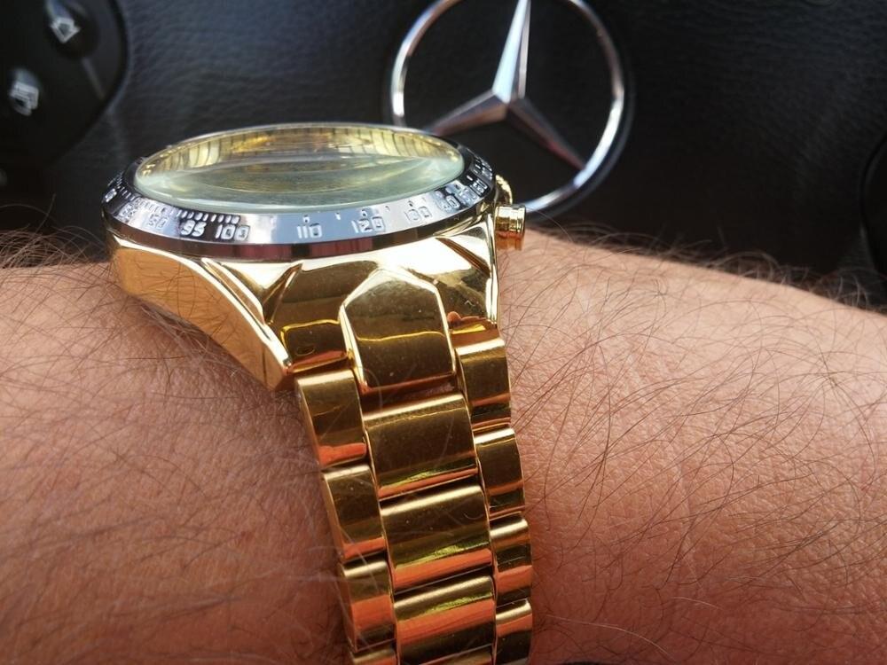 Winner New Number Sport Design Bezel Golden Watch Mens Watches Top Brand Luxury Montre Homme Clock Men Automatic Skeleton Watch 16
