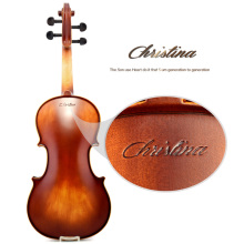Новая Кристина E02 клен скрипка 4/4 для начинающих использовать музыкальные инструменты, ручной работы черное дерево скрипки части, с Скрипка чехол, лук, канифоль