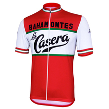 NEW Mens La Casera/Bahamontes Cycling Jersey Summer Clothing Wear Breathable Clothes