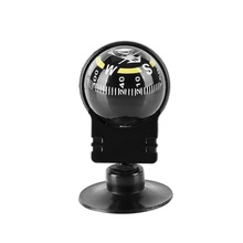 Outdoor Pocket Ball Compass Dashboard Dash Mount Navigation Compass Black Plastic Car Boat Truck Suction Compass dqy 1 geology compass pocket transit metal compass