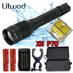 Litwod Z20 P73 Original CREE XHP70 chip 42920lm convoy len lamp powerful Tactical LED flashlight XHP50 flash light zoom Lantern
