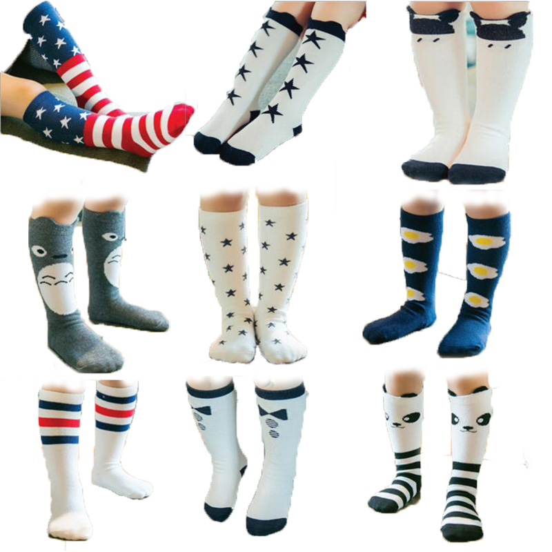 0-6y Baby Baumwolle Cartoon Tier Socken Kinder Top Qualität Kinder Baumwolle Stricken Knie Knie Socken Für Jungen Und Mädchen Kleidung Zubehör Attraktiv Und Langlebig