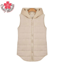Women Plus Size Vest Autumn Winter Fall Fashion Solid Sleeveless Cotton Thick Hoodie Jacket Vests Casual Women's Joker Tops 4XL