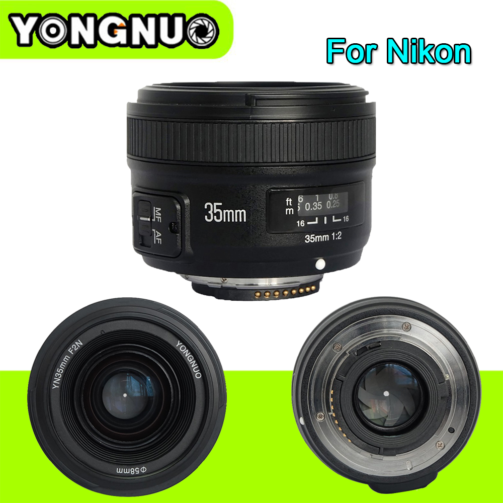 Yongnuo YN35mm F2 1:2 AF/MF Wide-angle Aperture Fixed/Prime Auto Focus Lens For Nikon D7100 D3200 D3300 D3100 D5100 D90 DSLR yongnuo 35mm camera lens f 2 af aperture auto focus large aperture for nikon d5200 d3300 d5300 d90 d3100 d5100 s3300 d5000