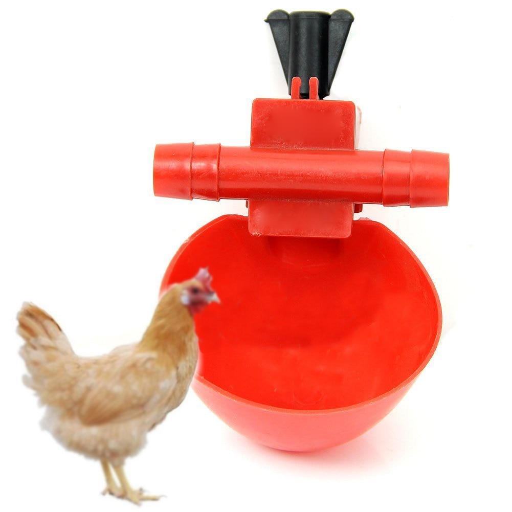 L/_shop 5 Pcs Abreuvoir Automatique Buveur Eau Volaille Eau Tasses en Plastique Bol Poulet Oiseau