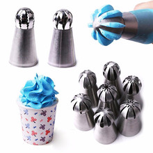 Russian Flower Cake Decorating Icing Piping Nozzles Pastry Tips Baking Tools TOP Stainless Steel Nozzles Cakes Decoration