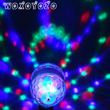 Led RGB Bulb Stage Light Party Dance E27 85-265V Lamps Christmas Lighting Colorful lamp Magic Auto Rotating DJ Disco KTV Bar e27 6w led bulb rgb auto rotating magic ball bulb lamp stage light colorful night light for home dj holiday party dance decora