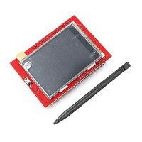 1 шт. 2,4 дюймов TFT ЖК-экран ILI9341 240x320 сенсорная доска 65 K RGB цветной дисплейный модуль с стилус для сенсорного экрана для Arduino UNO