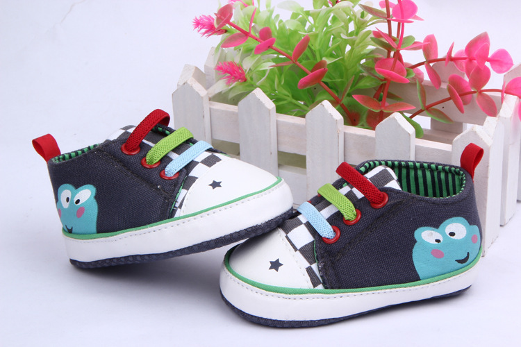 Cartoon Frog Baby Shoes Newborn Baby Prewalker Girls Shoes WX075