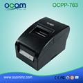 LAN/Ethenet Interfaz de Escritorio 76 MM Dot Matrix Mini POS Impresora de Recibos Con Cortador Automático (OCPP-763-L)