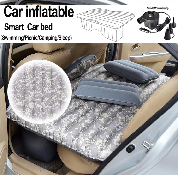 ФОТО DHL Free Shipping!!!Car Inflatable Bed Mattress Inflatable Bed Camping Back Seat Extended Mattress (Oxford Camouflage Pattern)