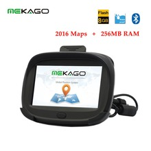 Motorcycle Navigation 4 3 inch 256MB RAM Motorcycle Bicycle GPS Waterproof IPX7 8GB Internal Bluetooth Free
