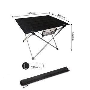 Image 3 - נייד מתקפל שולחן פיקניק שולחן אוכל חיצוני Ultralight שחור גבוהה כיתה שולחן שולחן 7075 אלומיניום סגסוגת קמפינג שולחן